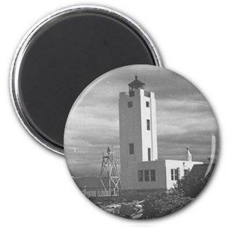 Mary Island Lighthouse 6 Cm Round Magnet
