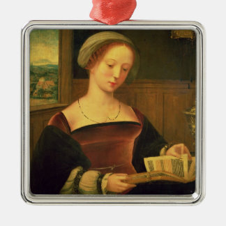 Mary Magdalene Reading (oil on panel) Christmas Ornament