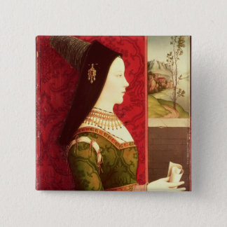 Mary of Burgundy  daughter of Charles the Bold 15 Cm Square Badge