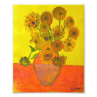 Mary, Sunflowers (after Van Gogh) Photo Print