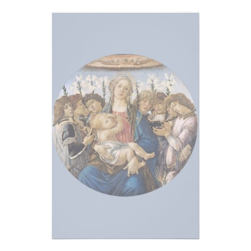 Mary with Child and Singing Angels by Botticelli Flyer