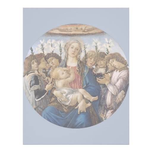 Mary with Child and Singing Angels by Botticelli Full Color Flyer