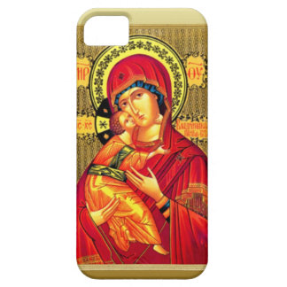 Mary with Jesus, wearing red Case For The iPhone 5