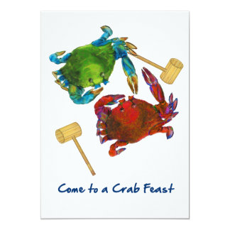 Maryland Crabs Before & After Crab Feast 13 Cm X 18 Cm Invitation Card