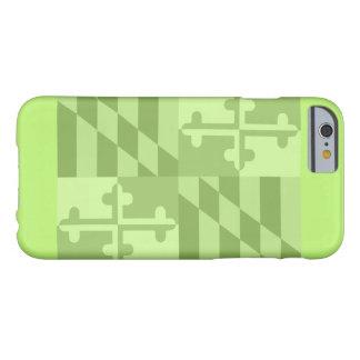 Maryland Flag (horizontal) phone case - lime green