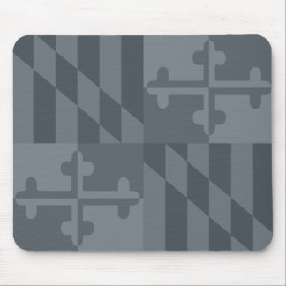 Maryland Flag Monochromatic mouse pad - grey