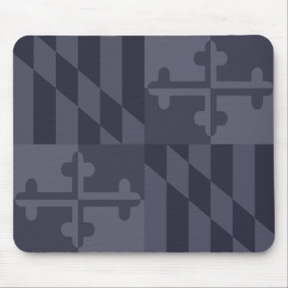 Maryland Flag Monochromatic mouse pad - navy blue