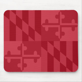 Maryland Flag Monochromatic mouse pad - red