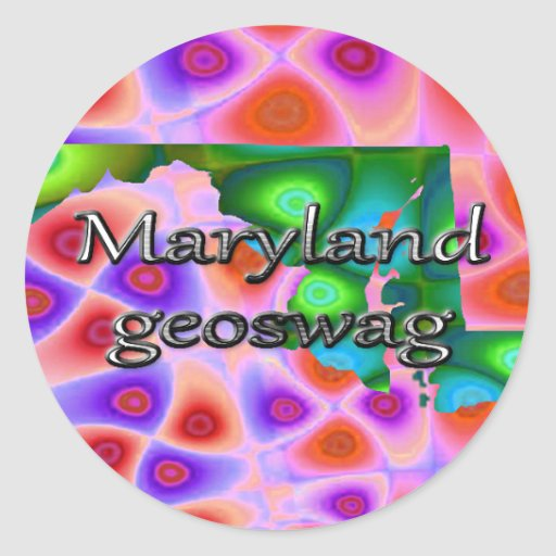 Maryland Geocaching Supplies Stickers Geoswag