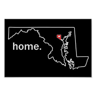 Maryland Home County poster - Baltimore City