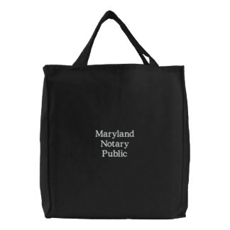 Maryland Notary Public Custom Embroidered Bag