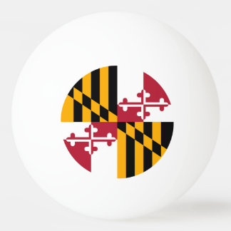 Maryland State Flag Colors Graphic Ping Pong Ball