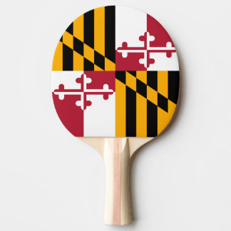 Maryland State Flag Colors Graphic Ping Pong Paddle