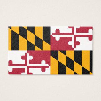 Maryland State Flag Design Business Card