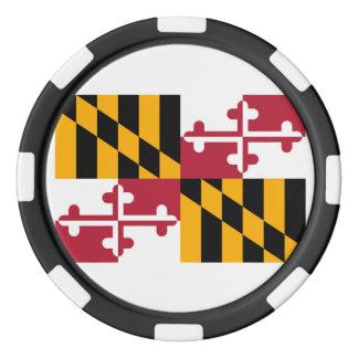 Maryland State Flag Design Poker Chips