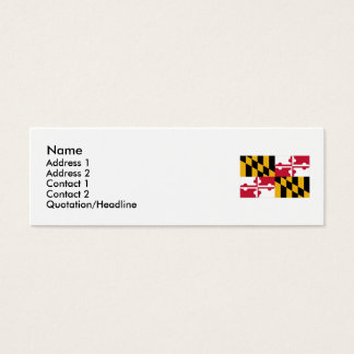 Maryland State Flag Mini Business Card