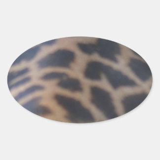 masai giraffe skin print oval sticker