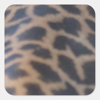 masai giraffe skin print square sticker