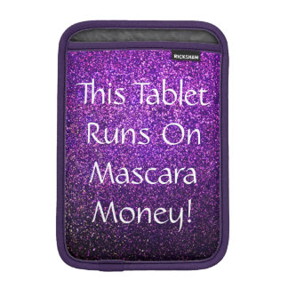mascara money tablet case presenter purple glitter