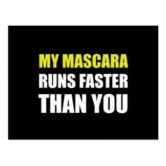Mascara Runs Faster Postcard