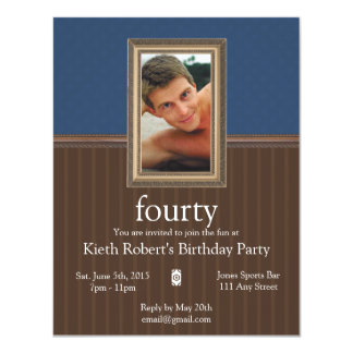 Masculine Birthday Party Invite