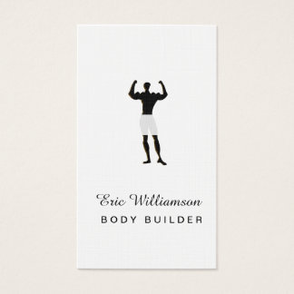 Masculine Body Builder  Fitness Coach Consultant Business Card