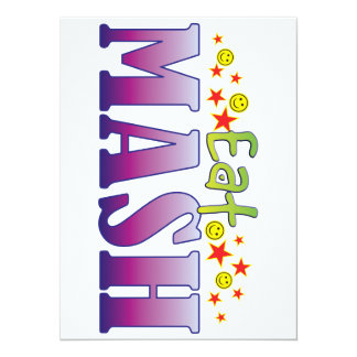 Mash Eat 14 Cm X 19 Cm Invitation Card