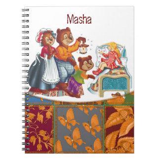 Masha and 3 bears note book
