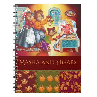 Masha and 3 bears note books