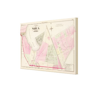 Mashapaug Pond and Cranston Atlas Map Canvas Prints