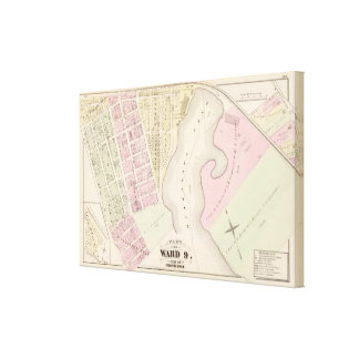 Mashapaug Pond and vicinity Atlas Map Stretched Canvas Prints