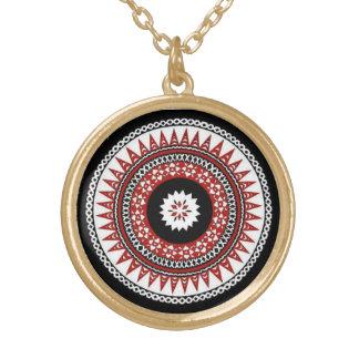 Masi Print Medallian Necklace