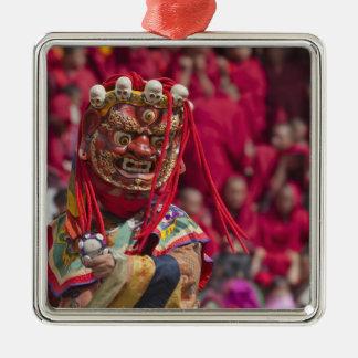 Mask dance performance at Tshechu Festival 3 Christmas Ornament