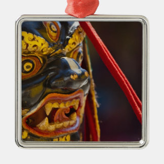 Mask dance performance at Tshechu Festival Christmas Ornament