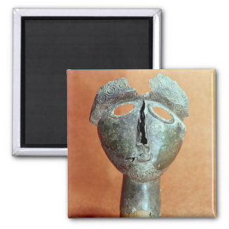 Mask of a Pyrenean divinity, from Montouse Square Magnet