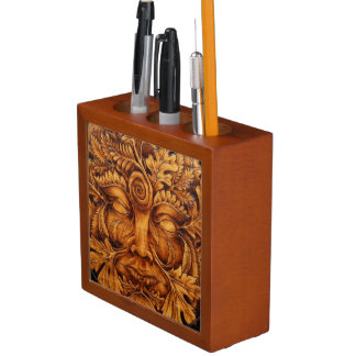 Mask of the Green Man Desk Organizer