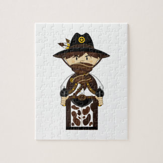 Masked Cowboy Sheriff Jigsaw Puzzle