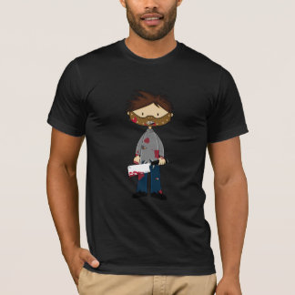 Masked Maniac Serial Killer with Cleaver T-Shirt