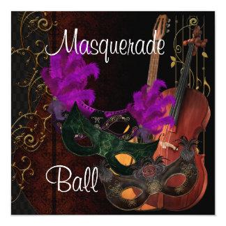 Masks Musical Instruments  Masquerade Ball In Card