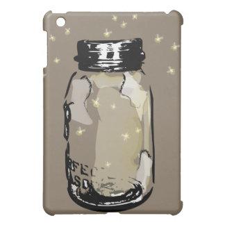 Mason Jar and Fireflies Cover For The iPad Mini