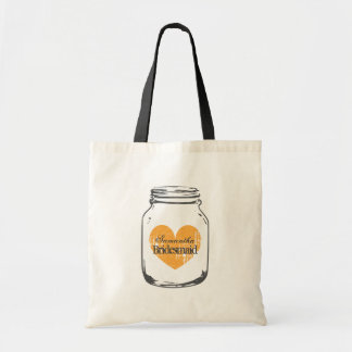 Mason jar barn wedding bridesmaid tote bags