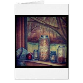 mason jar still life card