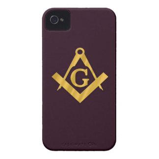 Mason Masonic Product on Brown Case-Mate iPhone 4 Case