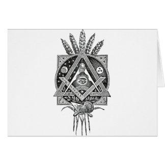 Masonic accessories card
