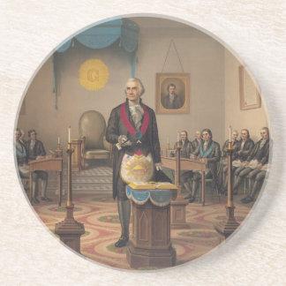 Masonic Chart Freemason Freemasonry Coaster