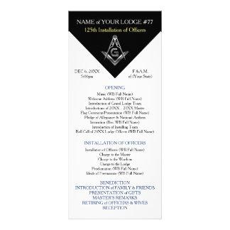 Masonic Installation Program Template Cards Rack Cards