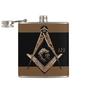 Masonic Minds (Golden) Hip Flask