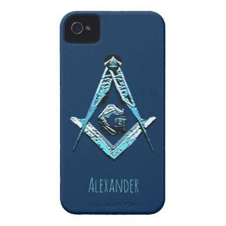 Masonic Minds (Light Blue) iPhone 4 Cover