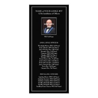Masonic Rack Card Program Guide Template