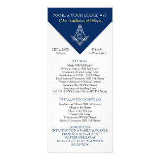 Masonic Rack Card Templates | Blue and Silver